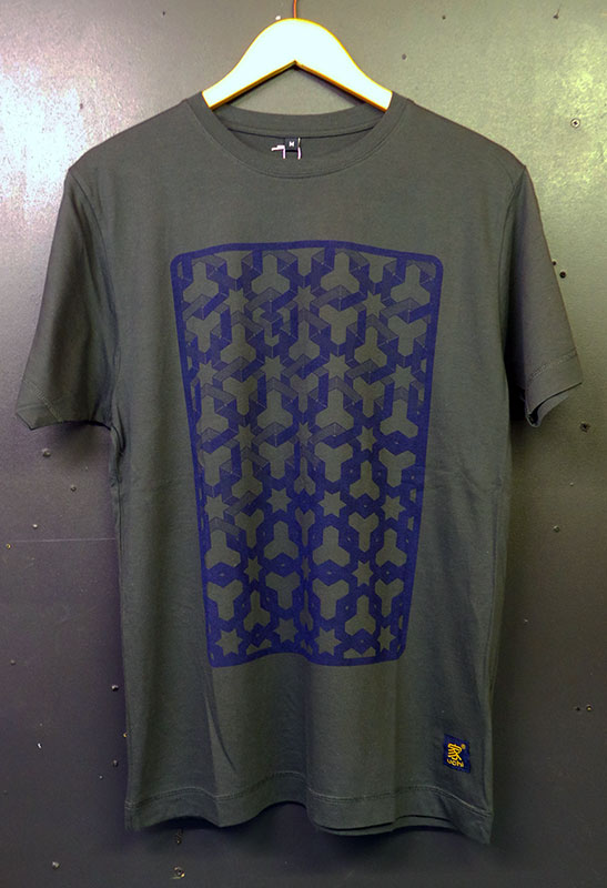uchi's Hexagon Space Dark grey T shirt