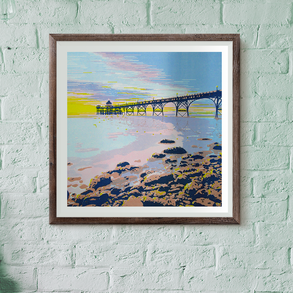 Limited Edition Clevedon Pier Screen print
