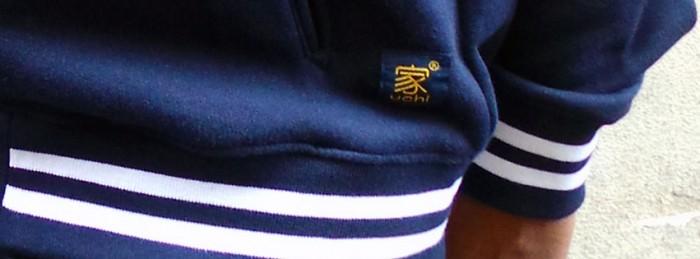 uchi clothing - varsity jacket