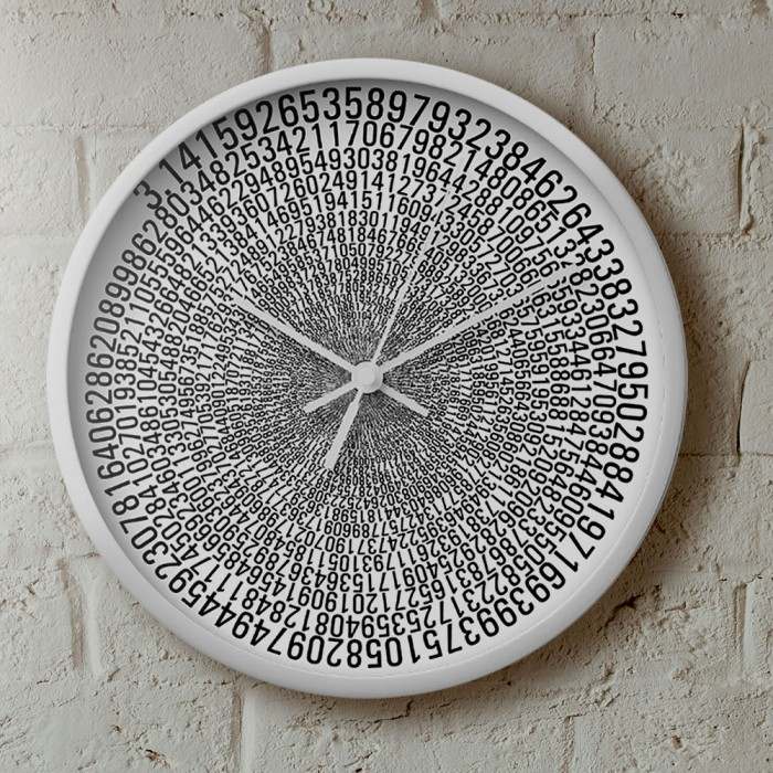 uchi Pi wall clock in white