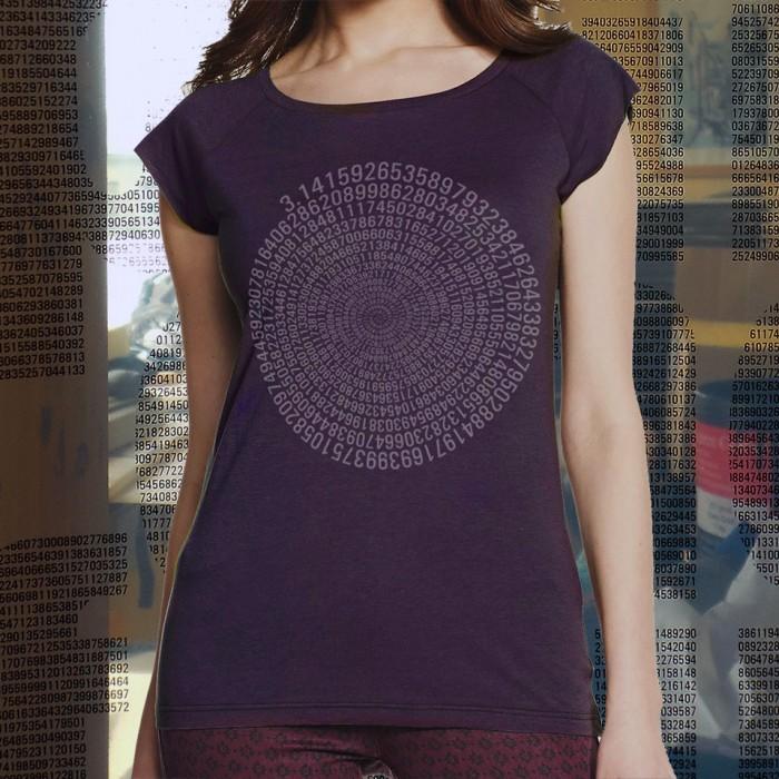 uchi clothing 794 decimal places of Pi womens t shirts
