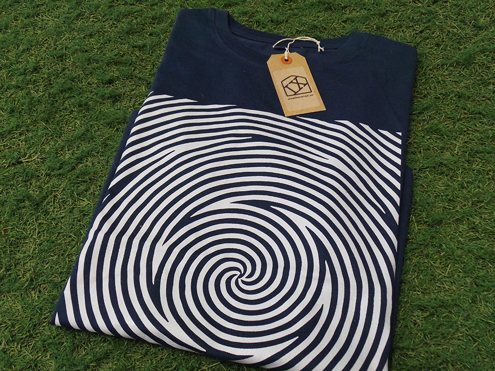 Spiral denim blue Tshirt by IX