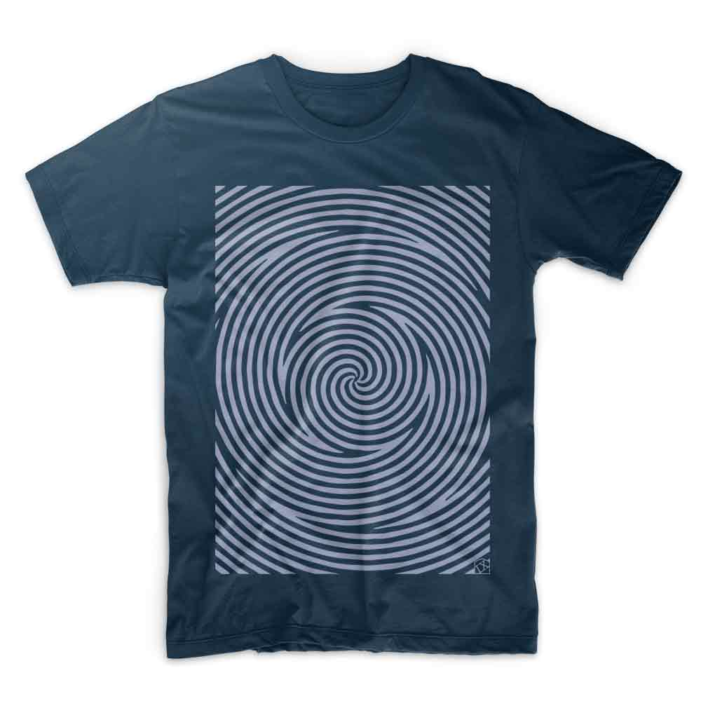 Spiral denim blue  T shirt by IX