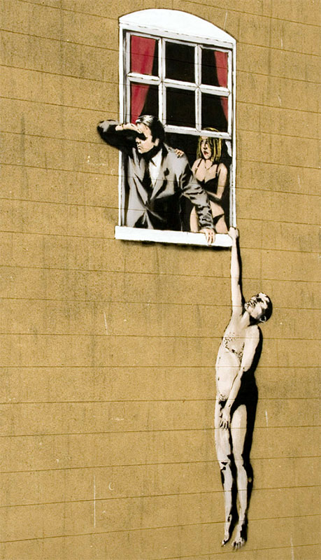 Banksy Window Lovers Park Street