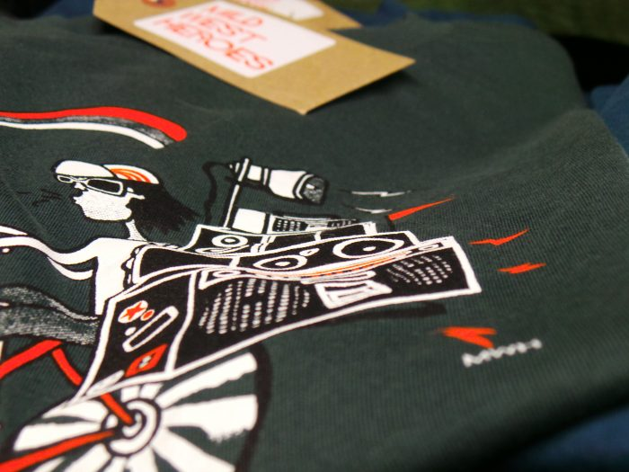 Mid West Heroes T shirts - Boom Box Bicycle