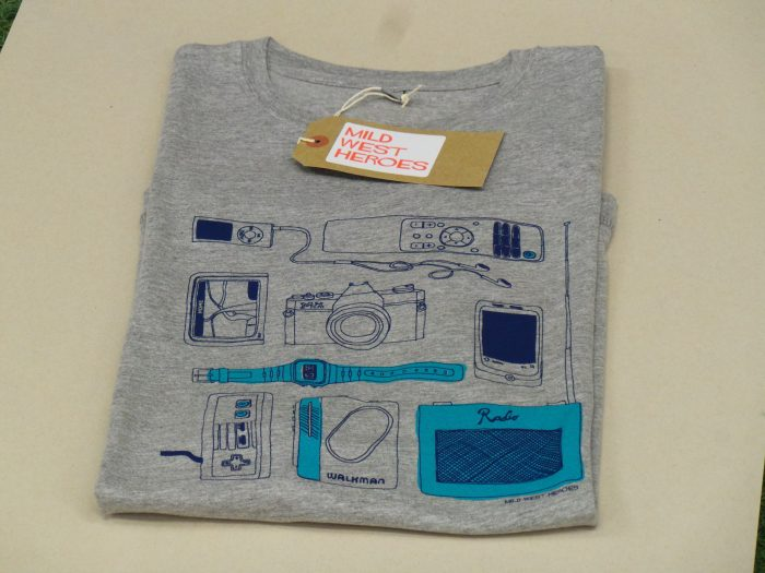 Mild West Heroes T shirt - Gadgets by Hannah Broadway