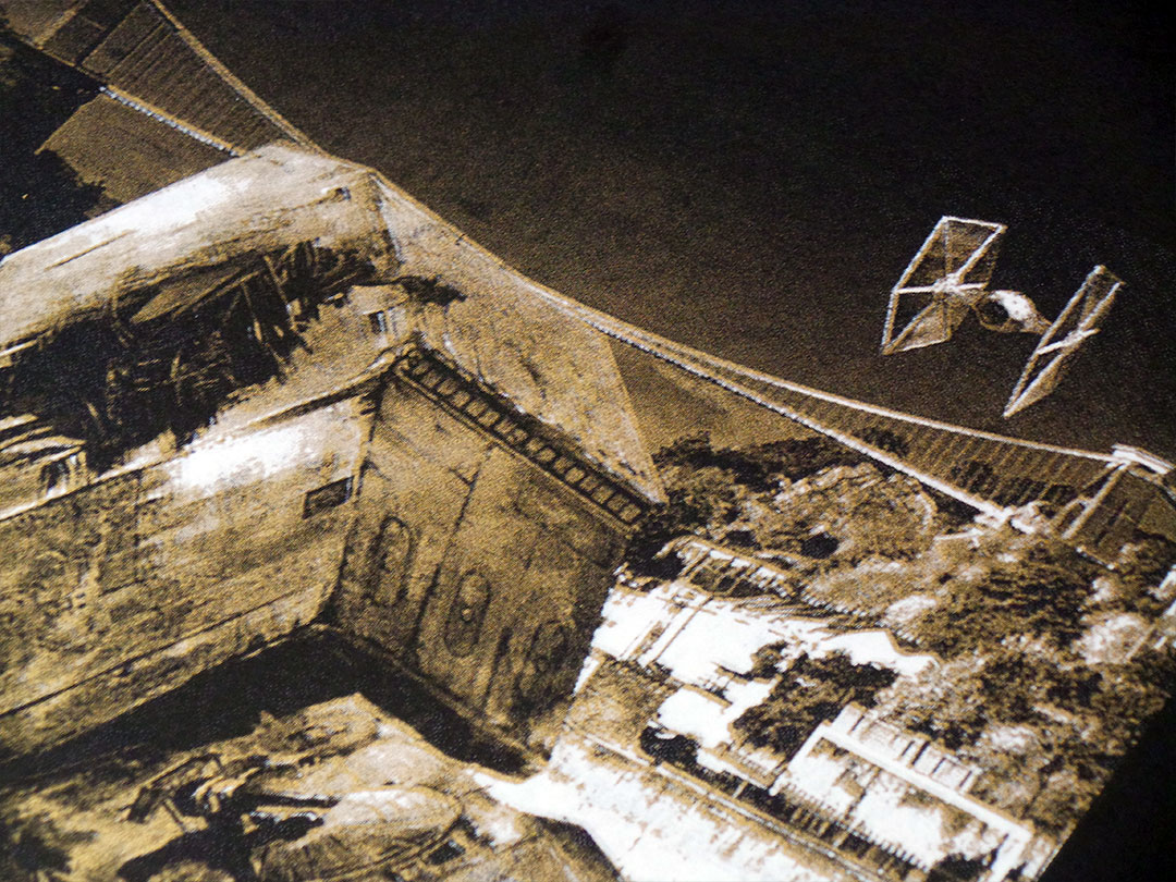 IX T shirts - Star Wars v Bristol episode II screen print - Walker Down Over Avon Gorge - detail