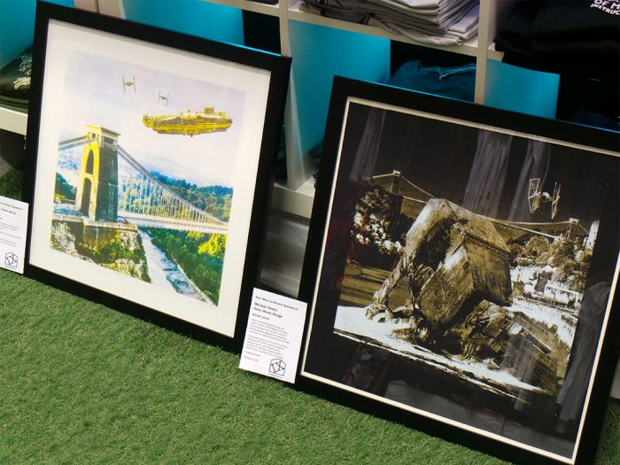Star Wars v Bristol Episodes I and II - limited edition acreen prints