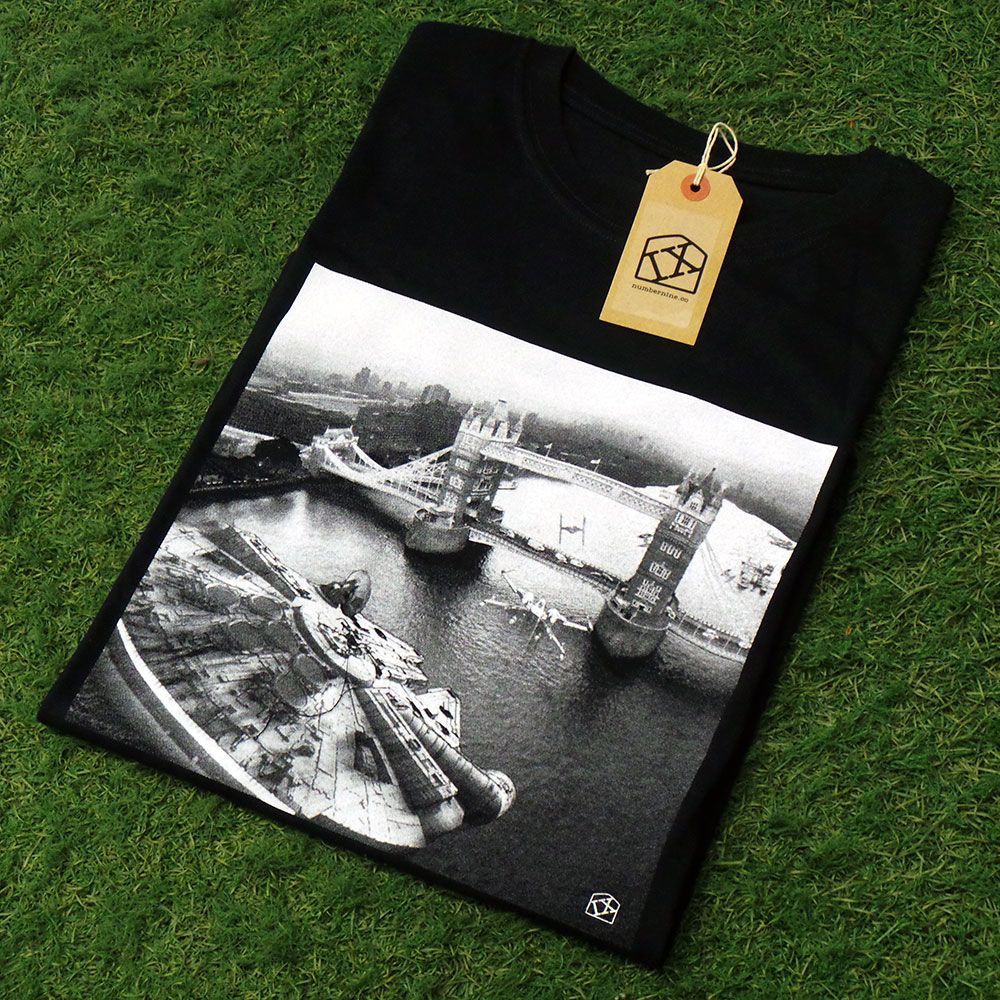uchi clothing x Number Nine  T shirt - Star Wars - Incident Tower Bridge T shirt