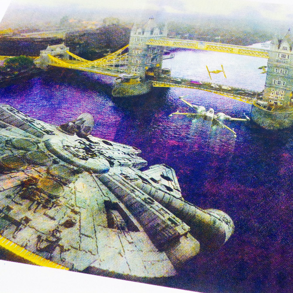 uchi x numbernine - Star Wars London Bridge limited edition screen print - detail