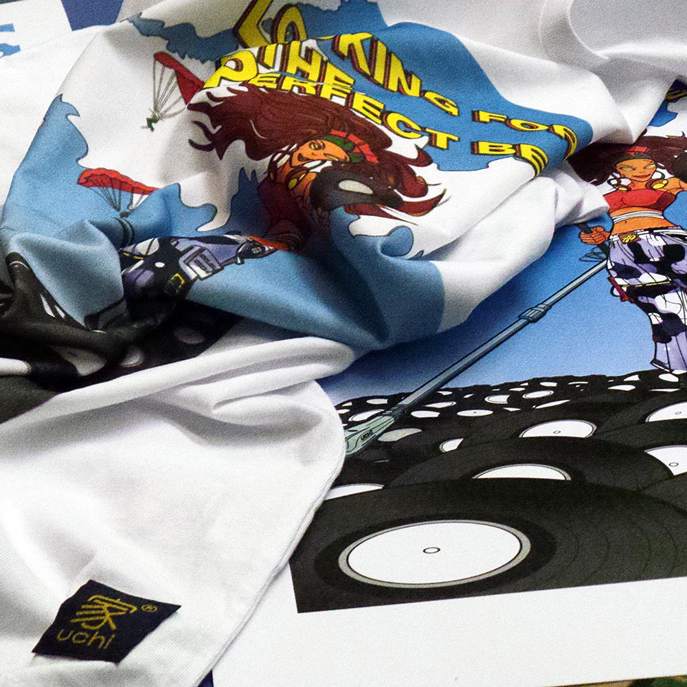Looking for the Perfect Beat – CMYK Edition T shirts and art prints by uchi cothing